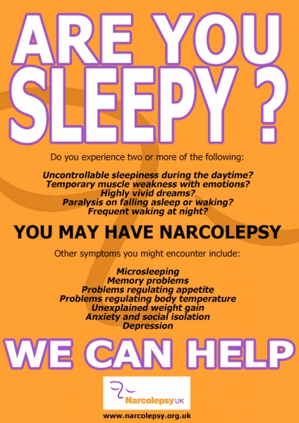 Are You Sleepy? We Can Help. Narcolepsy UK